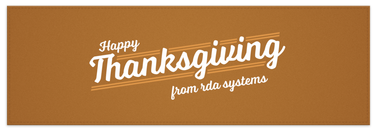 Happy Thanksgiving from the RDA team!
