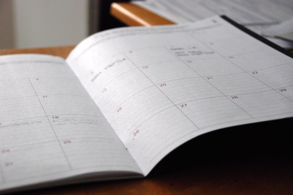 RDA Calendar for holiday labor day schedule